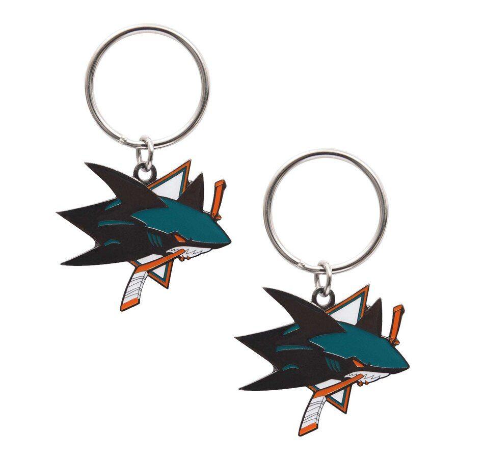 NHL San Jose Sharks Logo Keychain Pair (2 Units)