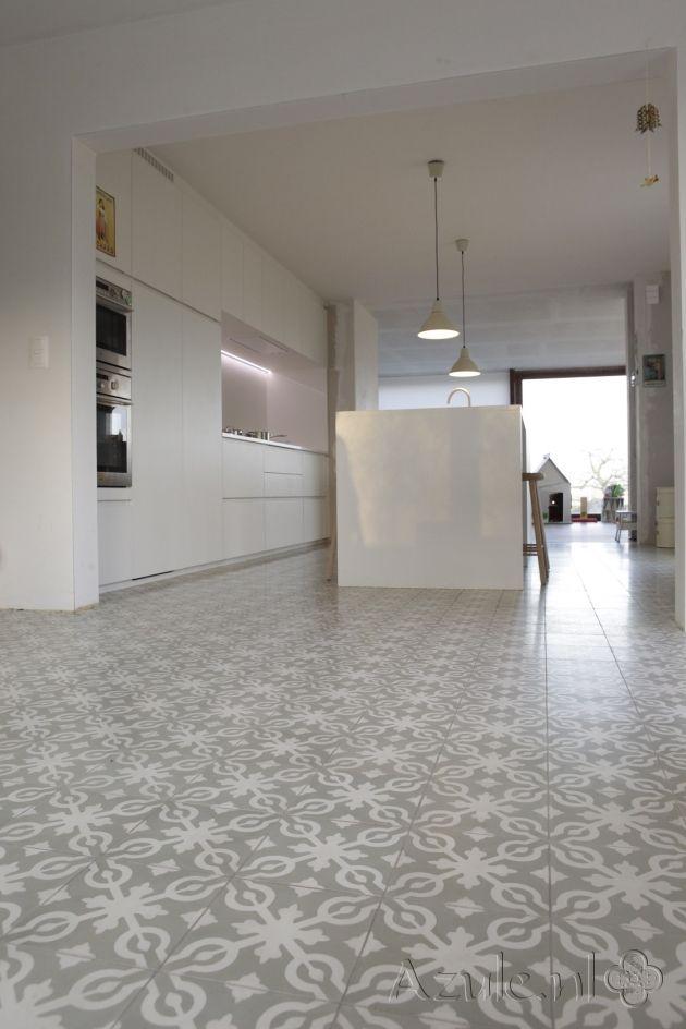 Project van keuken ideeen pinterest keuken kleine keuken en vloertegels - Tegels van cement saint maclou ...