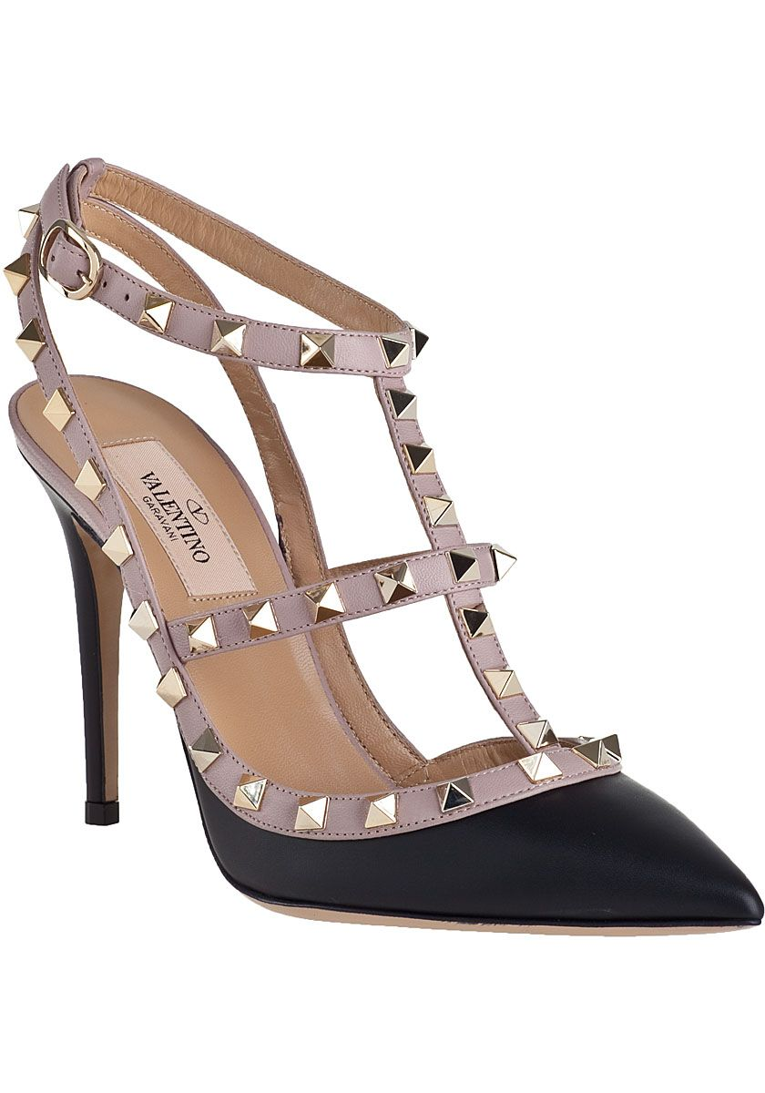 2c17aa07a96 I absolutely love these Valentino Rockstud Pump Powder Black Leather... one  day I will own a pair!