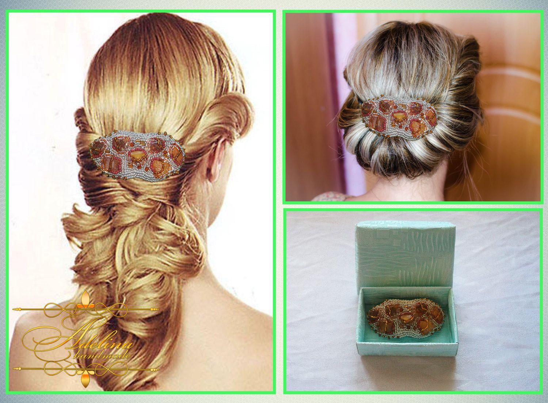 Hair Accessories Amber Hair Barrette Amber HairClip Original and