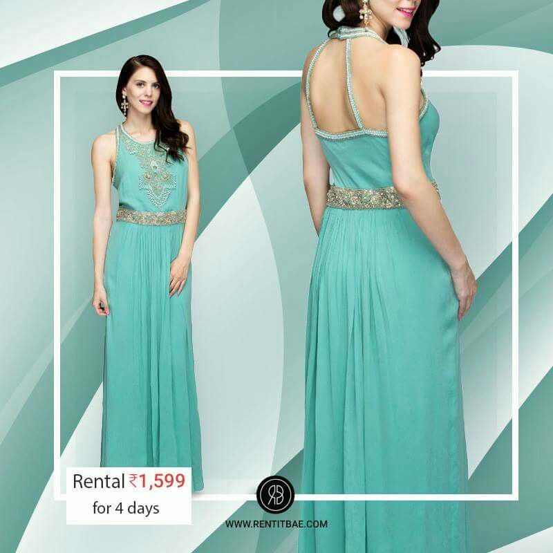 Catering to the Love for #Turquoise #Green #Colored #Designergowns ...