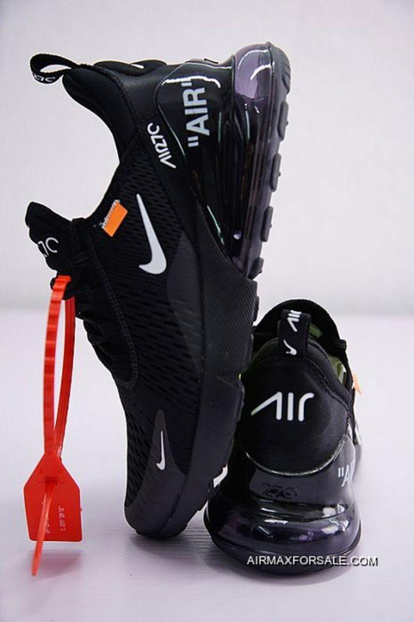 26b145f3eab Men Off White X Nike Air Max 270 Running Shoe SKU 150349-267 Copuon ...