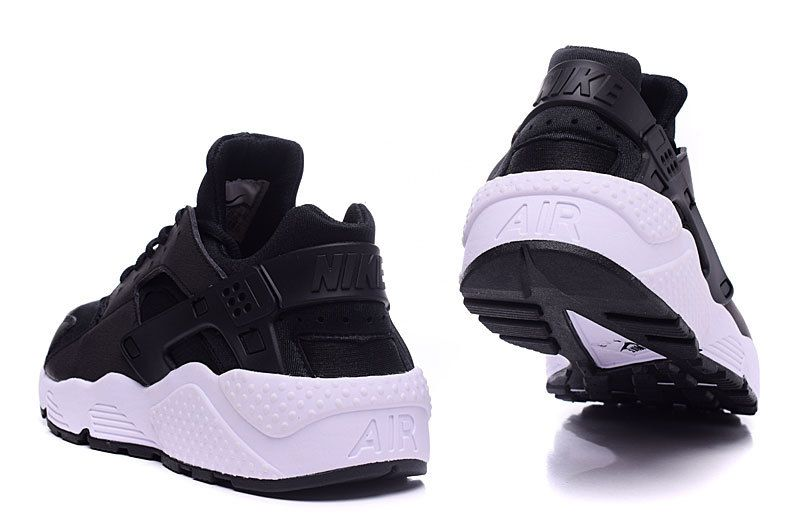 Men's/Women's Nike Air Huarache Run Running Shoes Black/White 634835-006