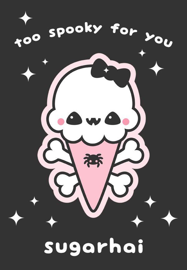 Pastel Goth Crop Tops Kawaii Ice Cream Cone Shirts Soft Etsy Goth Wallpaper Pastel Goth Art Pastel Goth