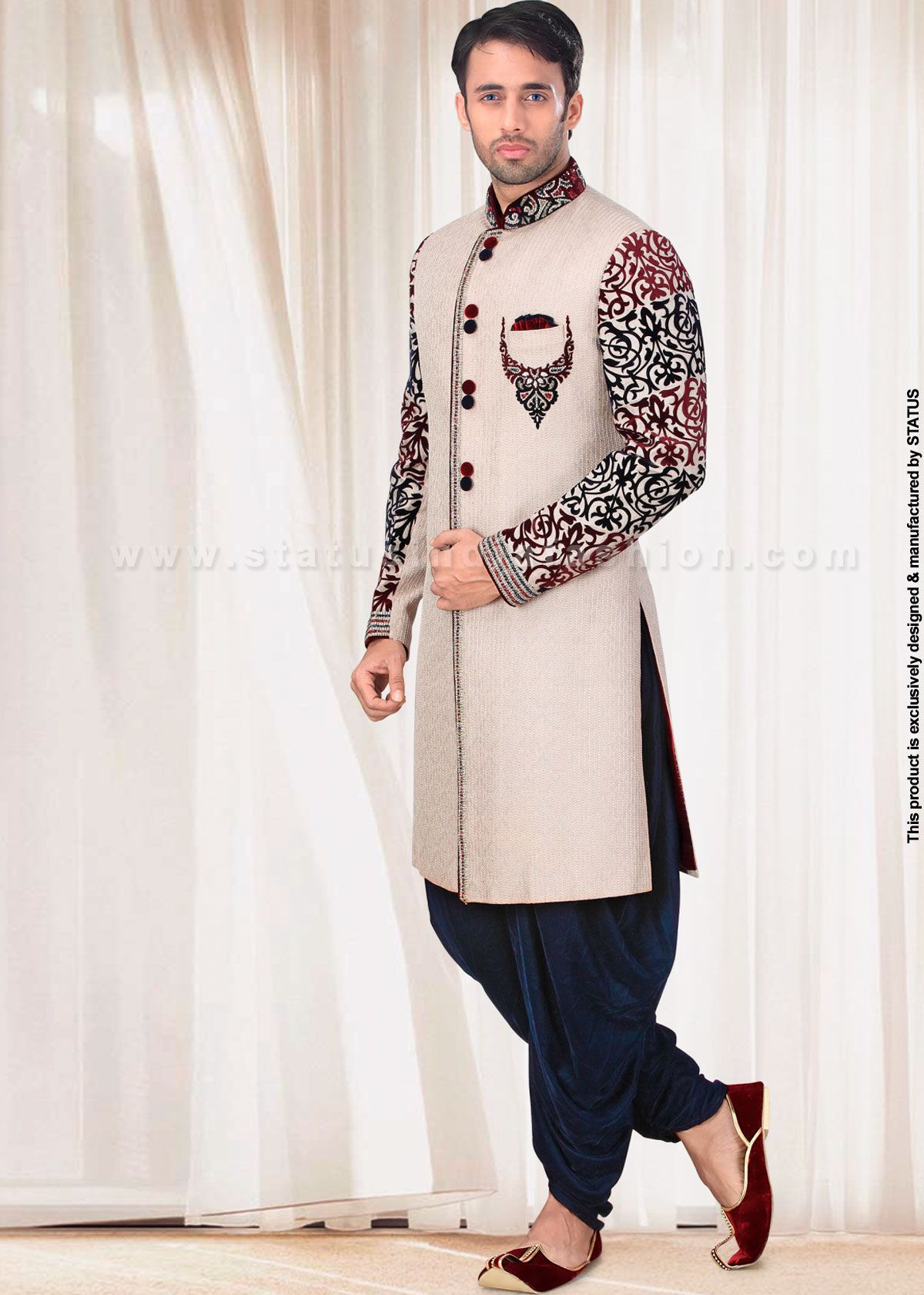 23e4571c4d Velvet sherwani, indian wedding wear, groom sherwani, best sherwani ...