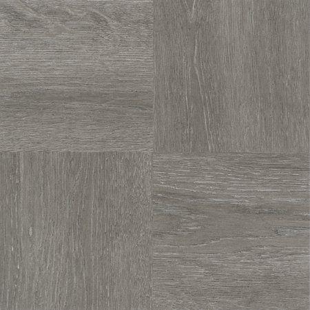Achim Nexus Charcoal Grey Wood 12x12 Self Adhesive Vinyl Floor Tile - 20 Tiles/20 sq. ft., Black