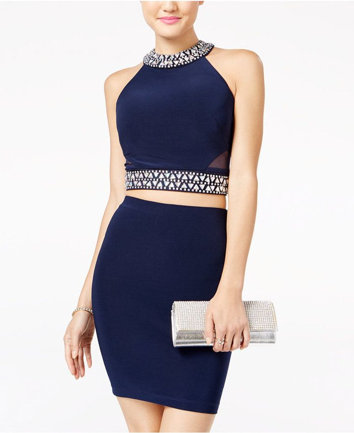 a97672bced B Darlin Juniors  2 Piece Embellished Bodycon Dress