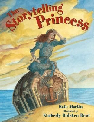 The Story-Telling Princess by Rafe Martin. Having survived a shipwreck, a princess tries to tell a prince a story whose ending he does not know and thus qualify for his hand in marriage.