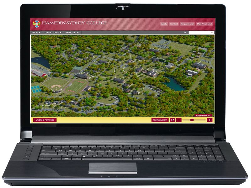 Hampden Sydney Campus Map.Hsc Campus Map Panel Desktop Platform Hampden Sydney College