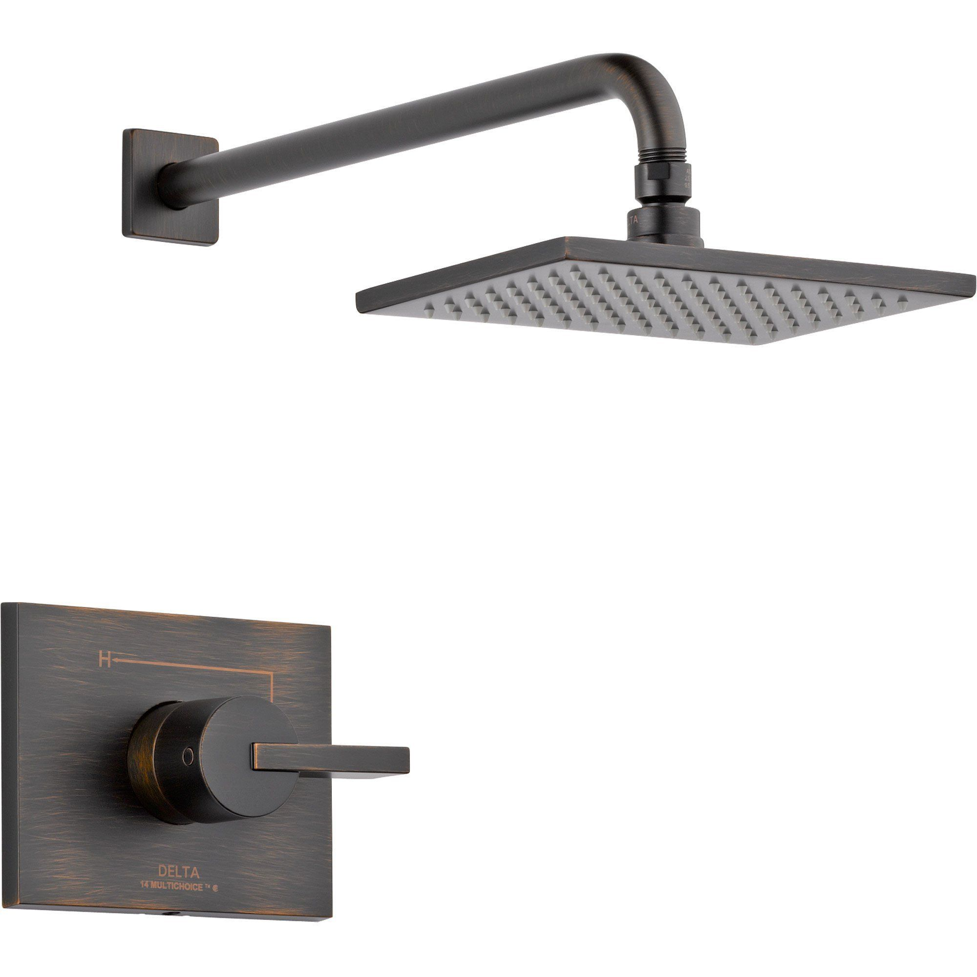 Delta Vero Venetian Bronze Large Modern Shower Only Faucet With