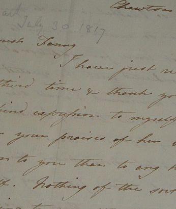 Jane Austenu0027s House Museum Cassandrau0027s Letter appeal Jane - letter of appeal