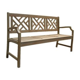Pleasant Lowes Vifah Atlantic 23 5 In W X 61 In L Acaia Patio Bench Ocoug Best Dining Table And Chair Ideas Images Ocougorg