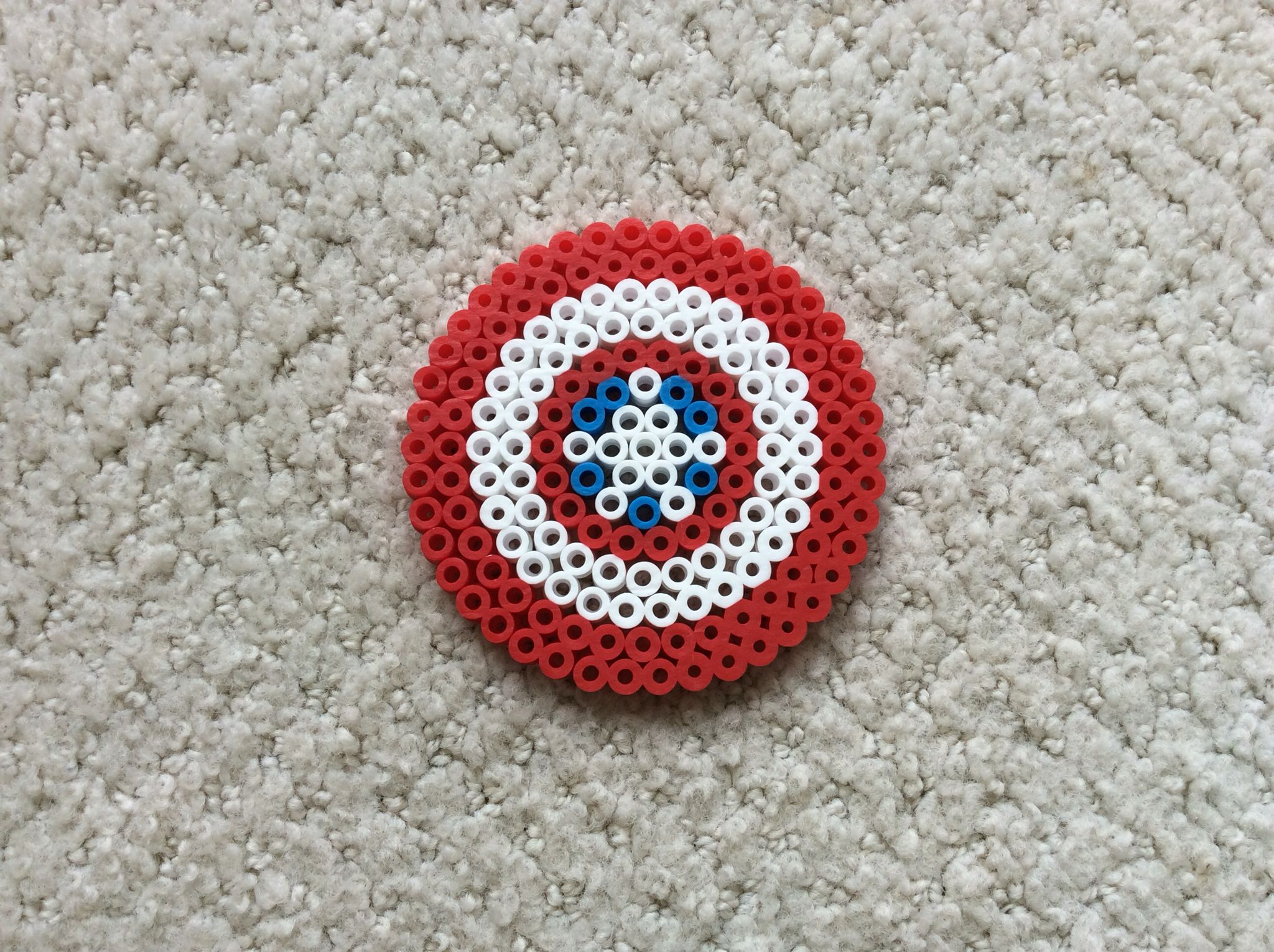 Perler Beads Captain America Shield Perler Bead Patterns Perler Patterns Perler Beads