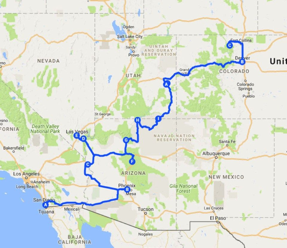 Your Perfect West American Road Trip With Images American Road