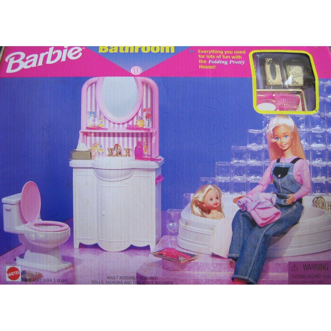 Barbie Folding Pretty House BATHROOM Playset