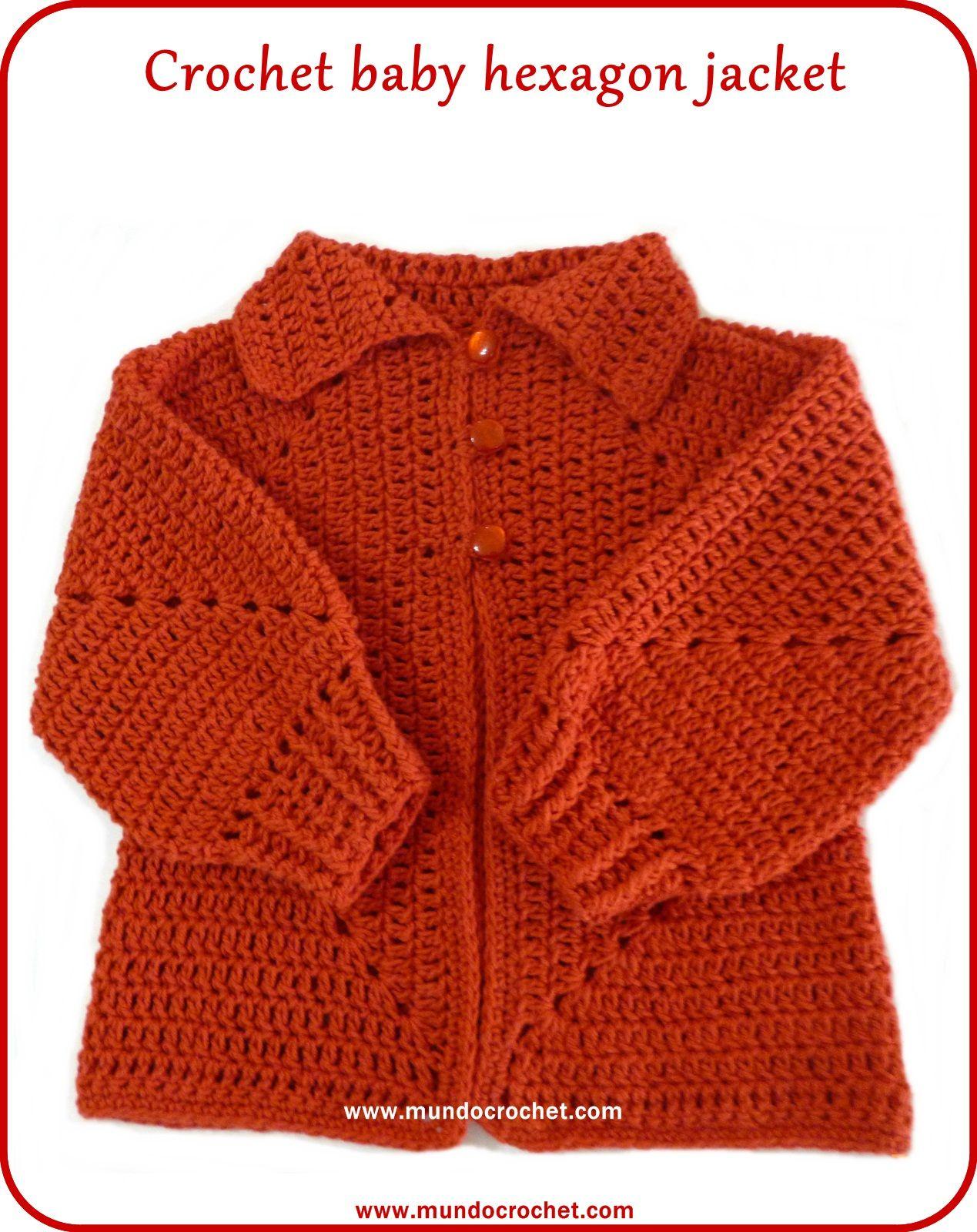 Crochet hexagon jacket/Crochet hexagon sweater-free pattern ...