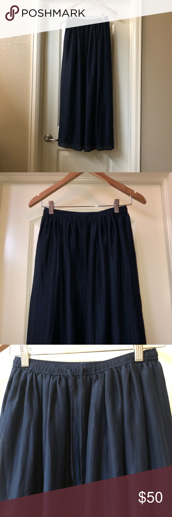 90475cc60 Madewell maxi skirt - new without tags Madewell skyward maxi skirt -  beautiful deep navy color. Size CS, tags removed never worn. Madewell  Skirts Maxi