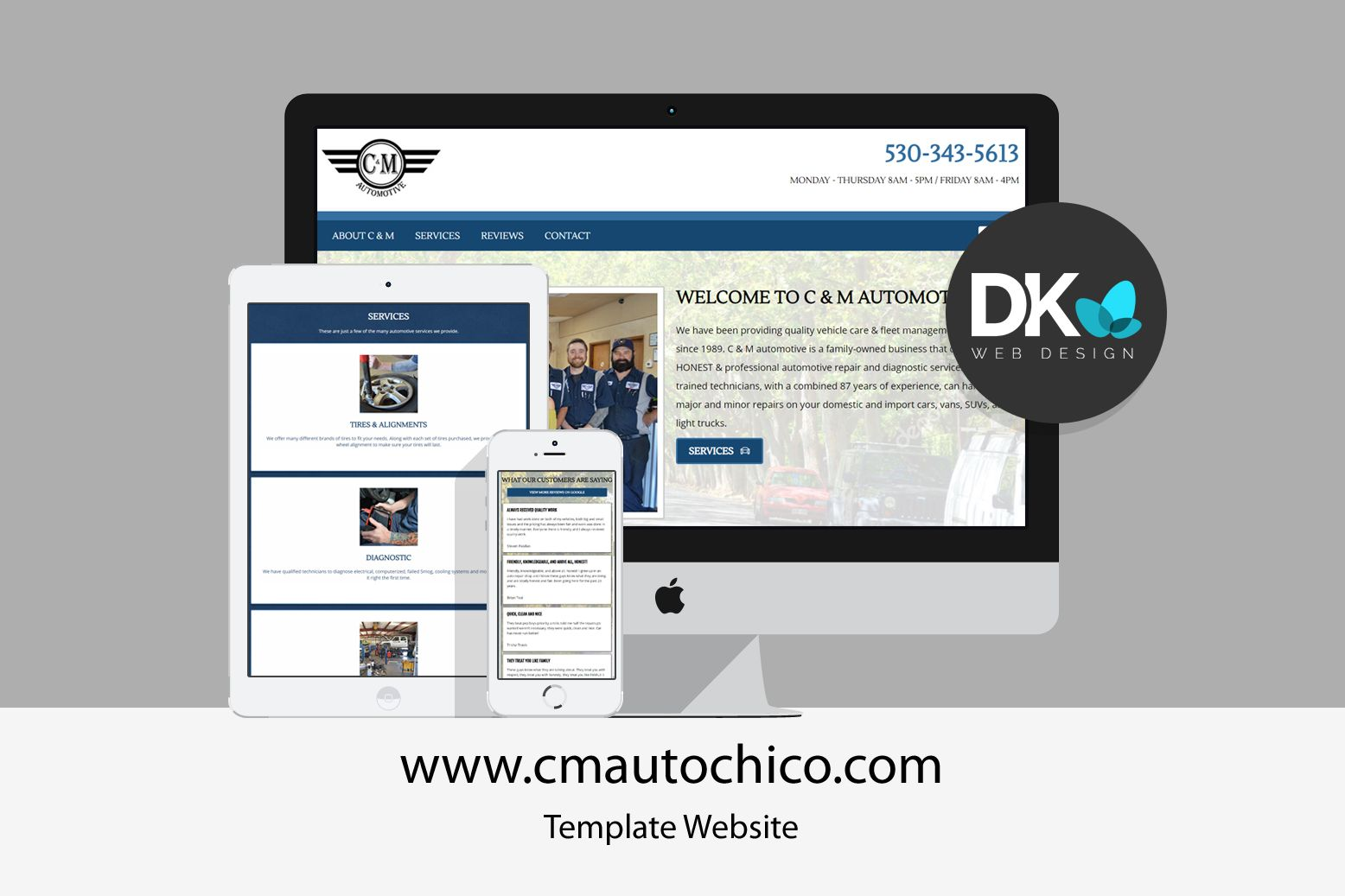 We Recently Designed A Template Website For A Local Automotive Shop Chicoca California Community Webdesig With Images Website Template Web Design Portfolio Web Design