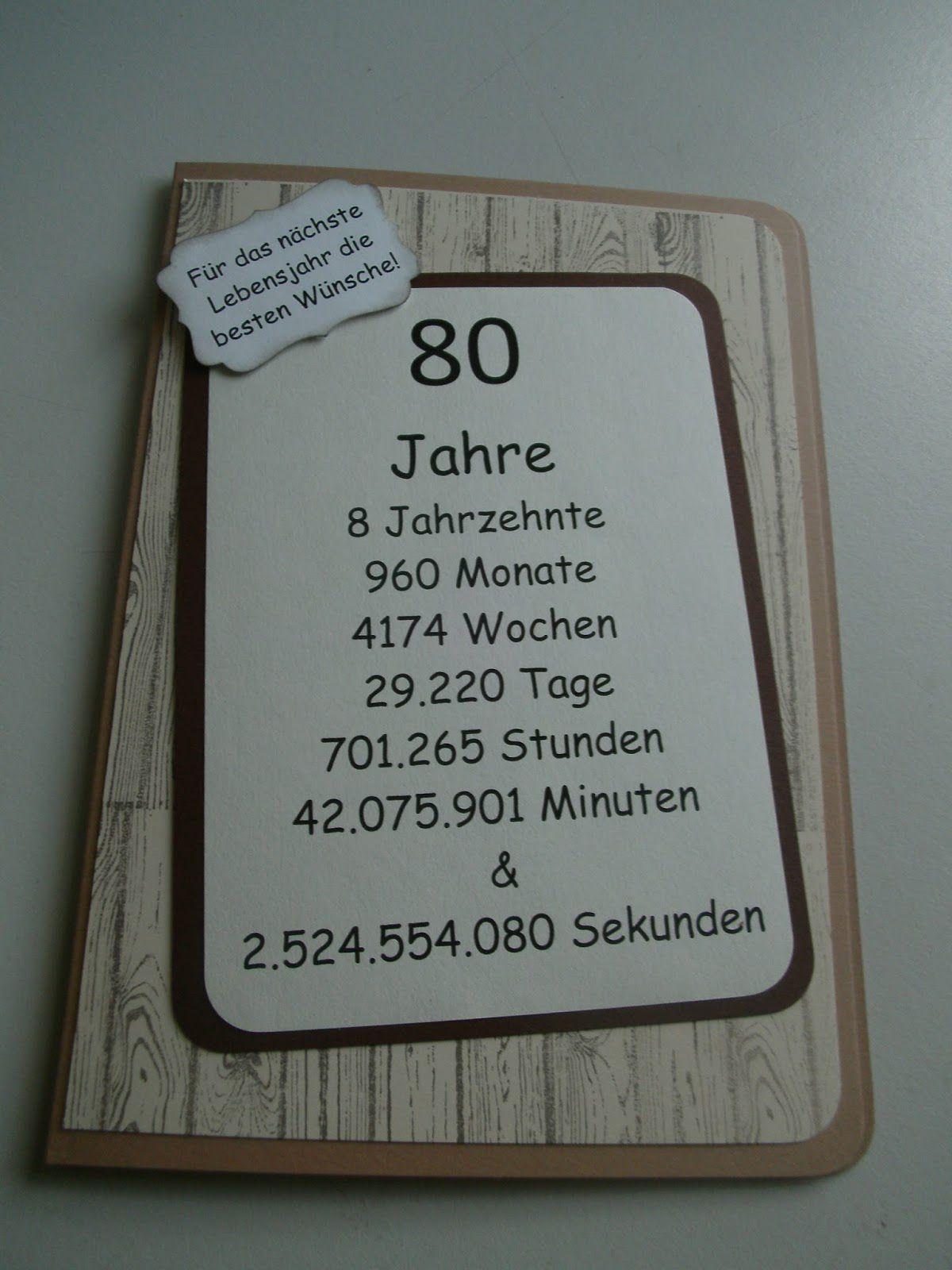 Einladungskarten Zum 80 Geburtstag Selbst Drucken Geschenk Ideen