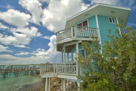 The Ocean Blue Oceanfront Bungalow at the Staniel Cay Yacht
