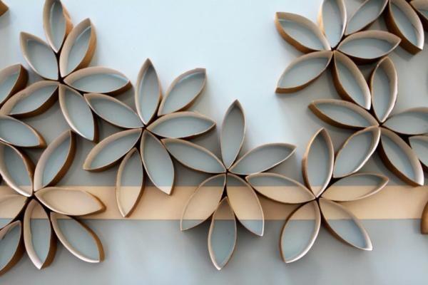 DIY paper towel roll wall art