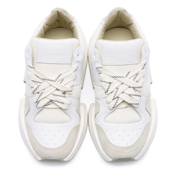 ba2fe6ddb1 MM6 Maison Martin Margiela - White Flare Sneakers SSENSE | Sneakers ...