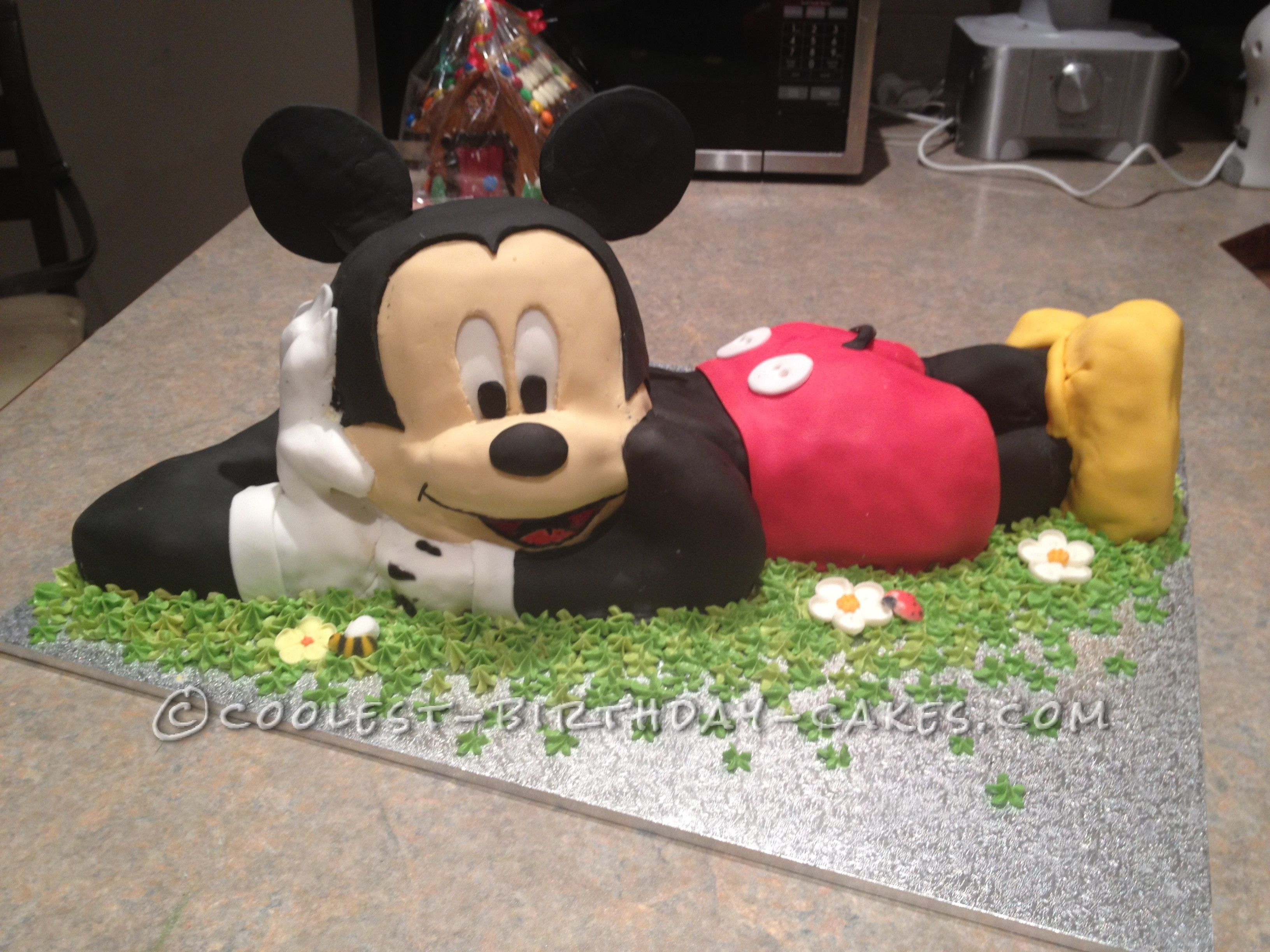 Miraculous Coolest 3D Mickey Mouse Cake For A 2Nd Birthday Mickey Mouse Funny Birthday Cards Online Elaedamsfinfo