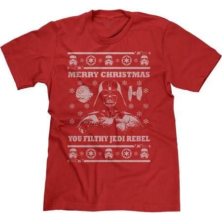 Ugly Star Wars Christmas Parody Sweater Darth Vader Filty Jedi Rebel