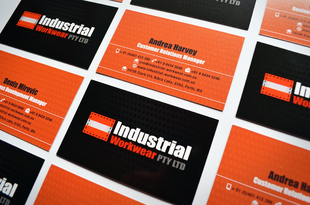Logo and business card designs for Industrial Workwear Pty Ltd by ...