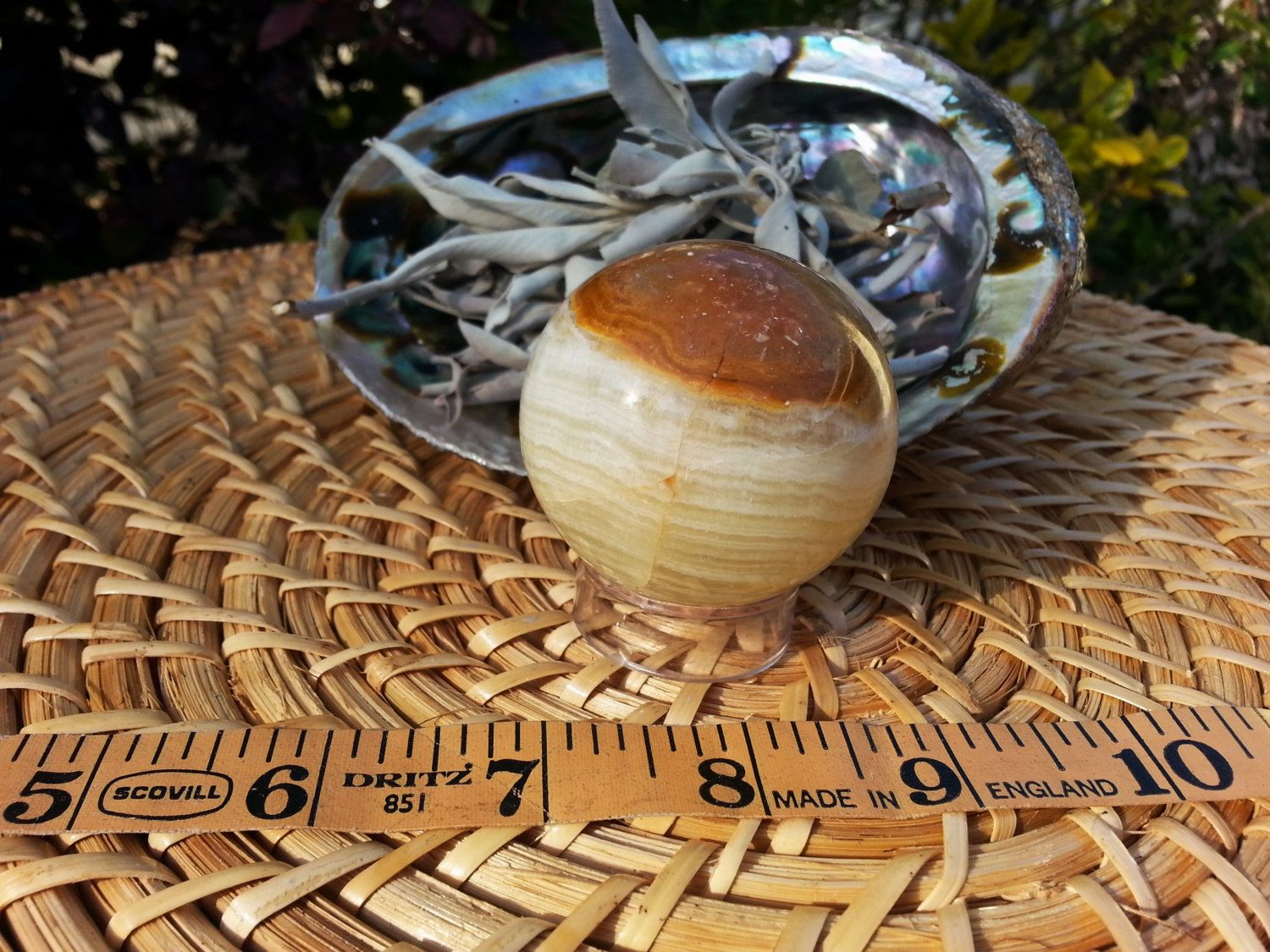 Pakistani Onyx Sphere ~ One Reiki Infused gemstone sphere with stand approx 2 inches (030) by Kiliamma on Etsy