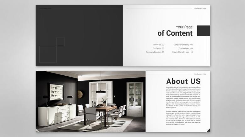 Company Profile Design For Interior Freelancer In 2020 Company Profile Design Company Profile Profile Design