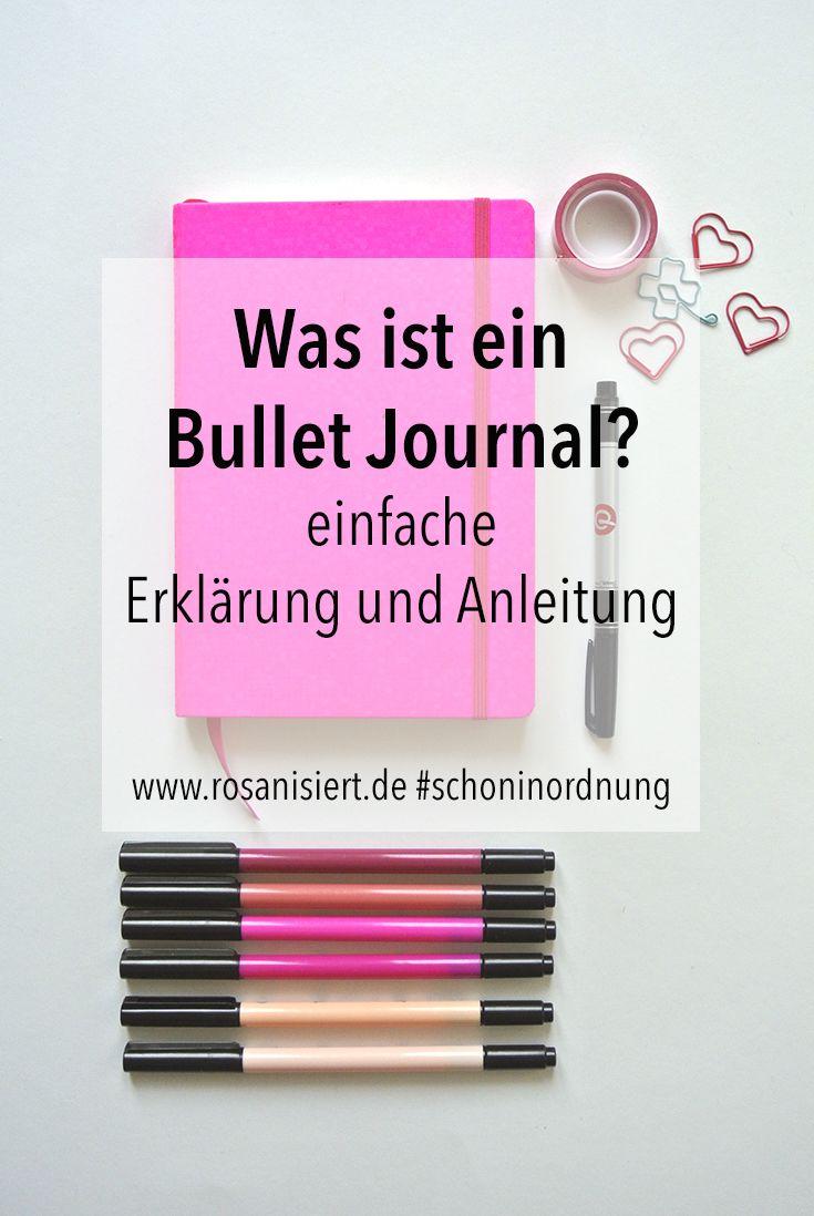 Was ist ein Bullet Journal? - Rosanisiert