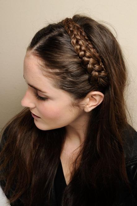 Braided Headband Hairstyle Tutorial | Hair make up, Make up and Plaits