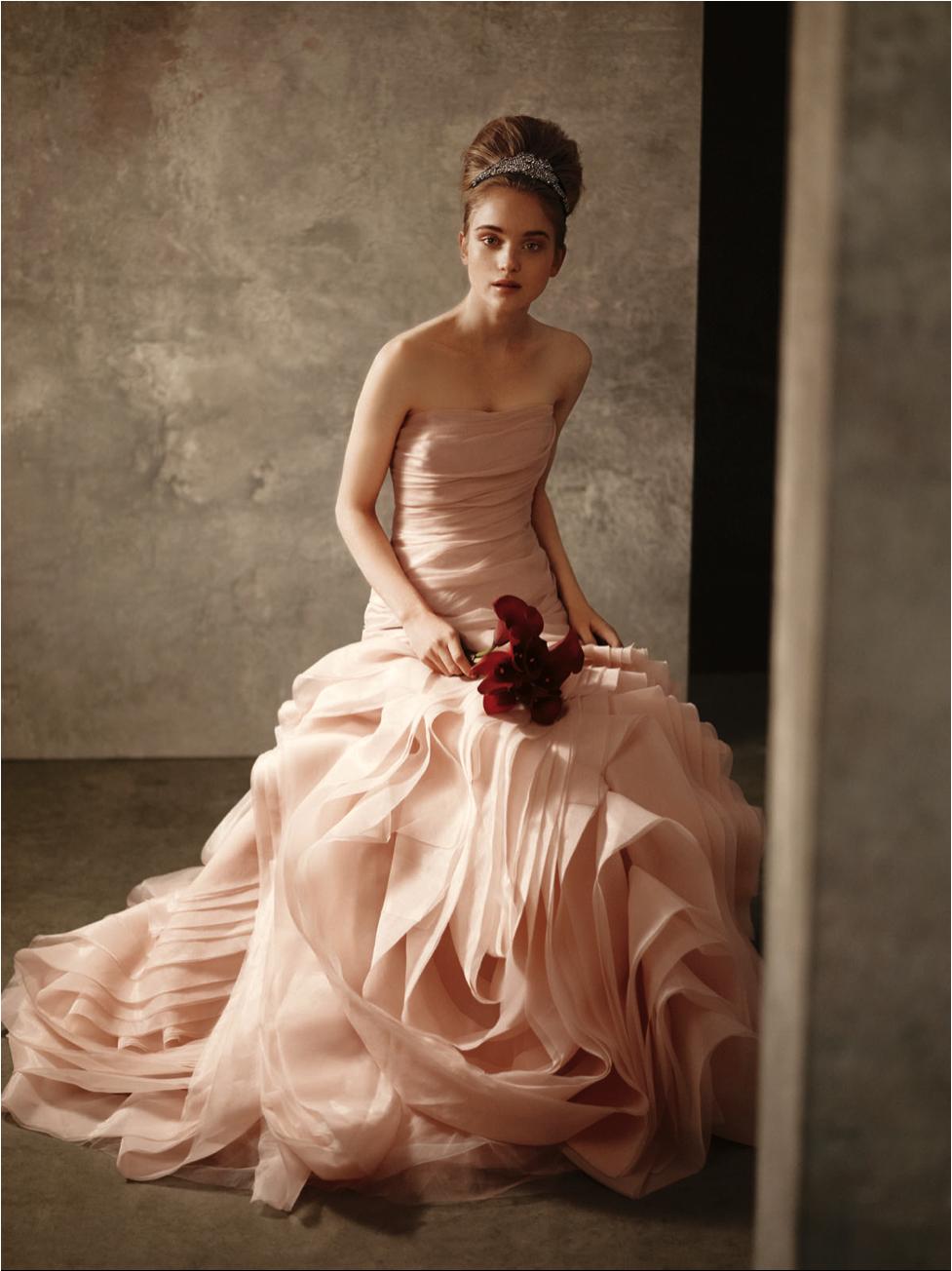 Pink and ivory wedding dress  So pretty  Favorite Fashion  Pinterest  Fashion
