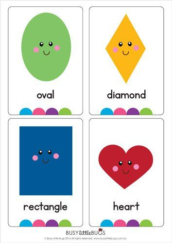 Légend image with regard to free printable shape flashcards