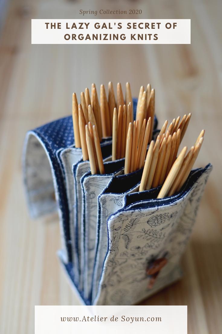 How to organize knitting needles easy