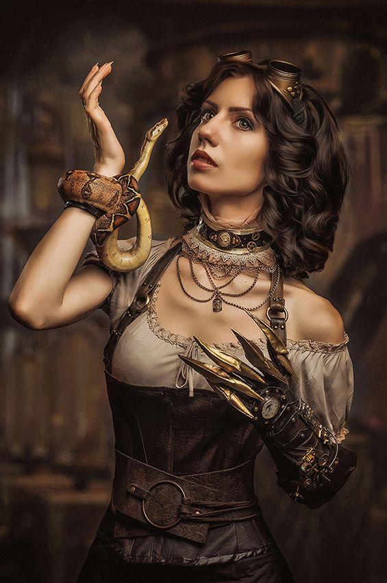 модель: Ева Сирин http://vk.com/ex_dreamer макияж,прическа: Александра Иванченко http://vk.com/id_alohaoi фото Рыжая Кошка http://vk.com/id.house Boa constrictor imperator- Пандора #steampunk #octopus #girl #photo #fashion #costumes #steampunk-girls #steamgirls #gothic