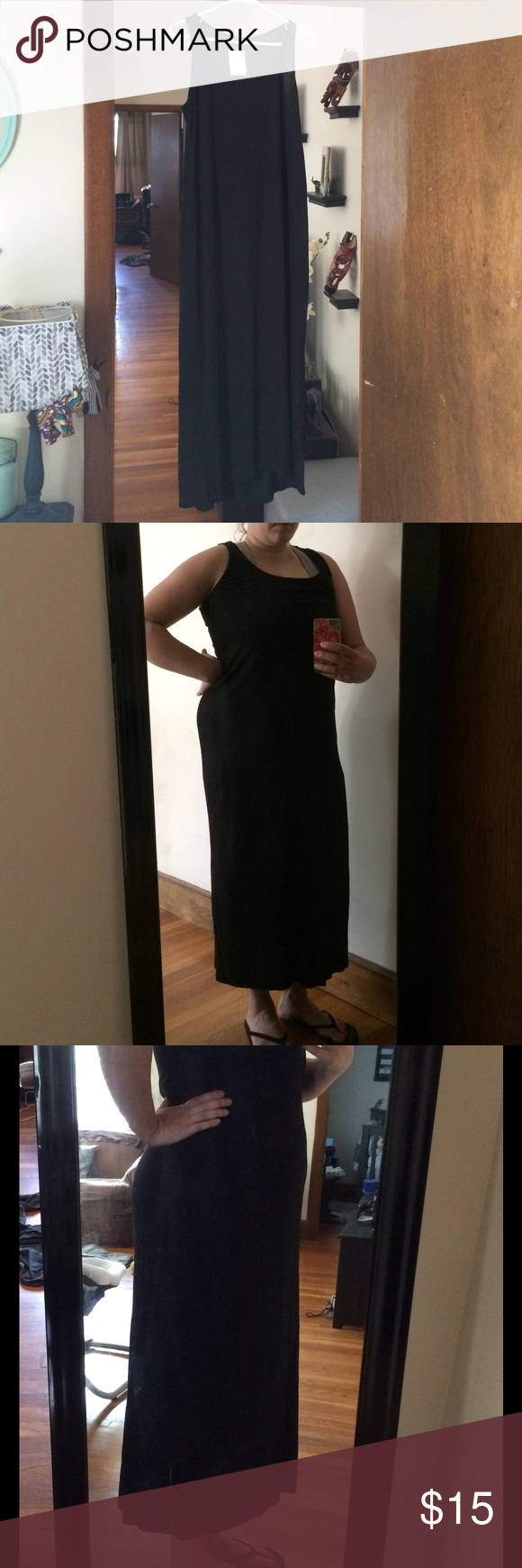 NWT h&m basics dress New never worn- perfect for dressing up or down. Modeled pix are me 4 months after a baby so it'll look better on you!  H&M Dresses Maxi