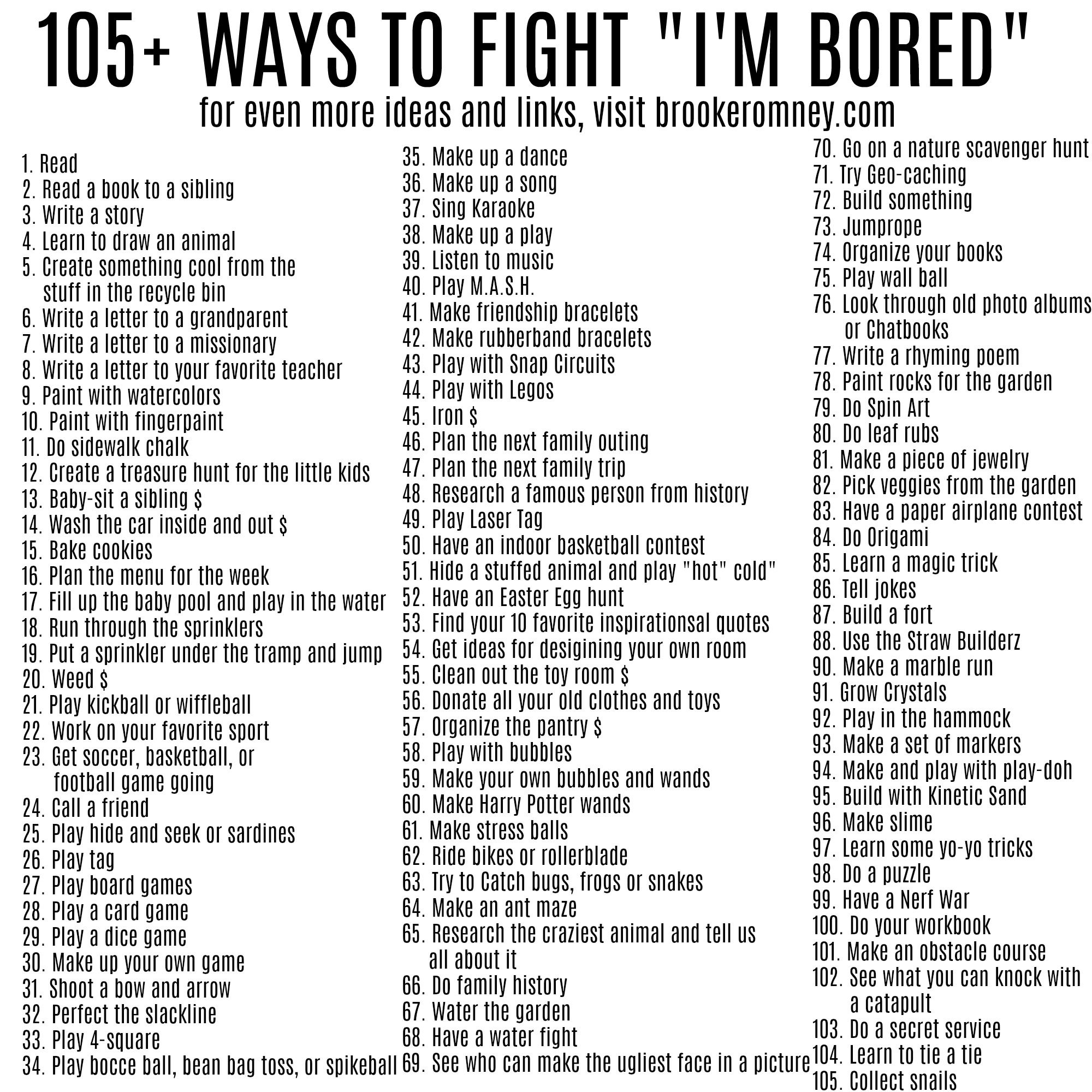 100+ Ways to Fight I'm Bored this Summer
