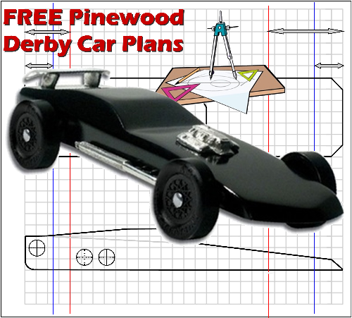 Free pinewood derby car plans designs and templates http for Free templates for pinewood derby cars