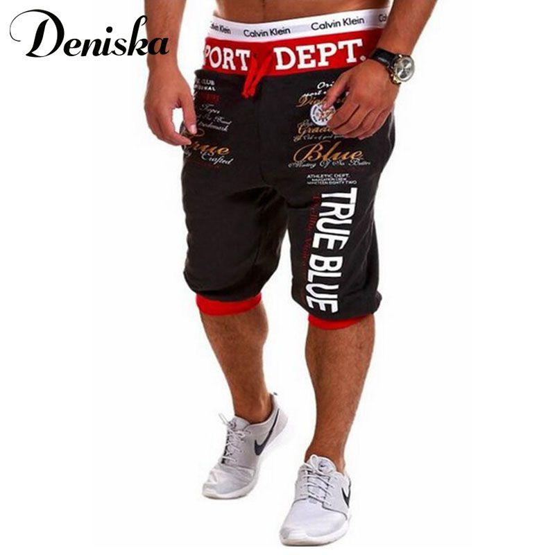 2016 New Summer Style Men Letters Shorts Men Casual Slim Fit shorts Beach Brand Shorts  Mens cotton Shorts
