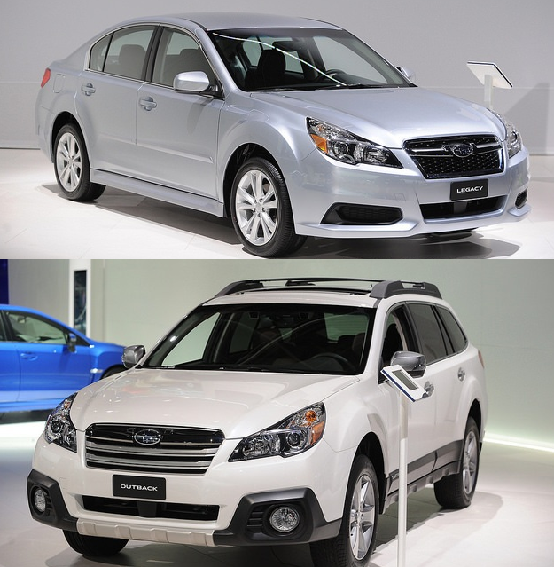 2015 Subaru Legacy and Outback Earn Top Safety Pick+