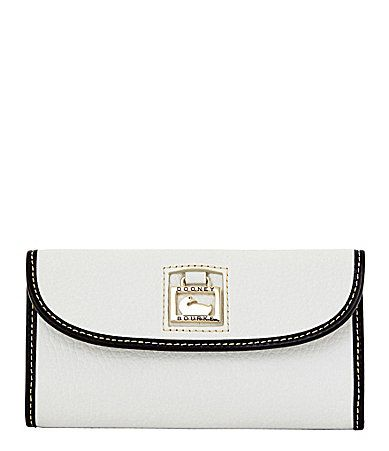 Dooney and Bourke Pearly Python Continental Clutch Wallet #Dillards
