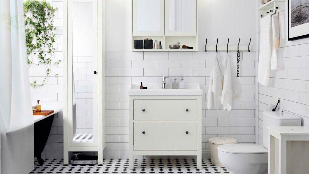 10 salles de bains Ikea qui donnent envie de se lever Modern - Meuble Avec Miroir Pour Salle De Bain