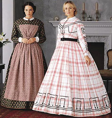 Women's Civil War Dress Gown Pattern Simplicity 7212 OOP