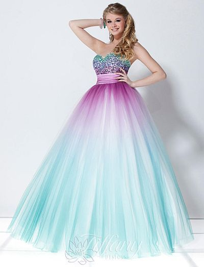 73e1baa0390 Check out this Tiffany Designs Presentation Tulle Ombre Ball Gown 16897.  it s super gorgeous isnt it  find it at frenchnovelty.com