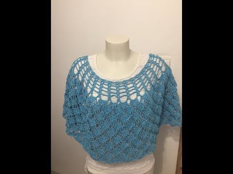 Tuto Poncho Au Crochet Youtube Crochet Crochet Cape