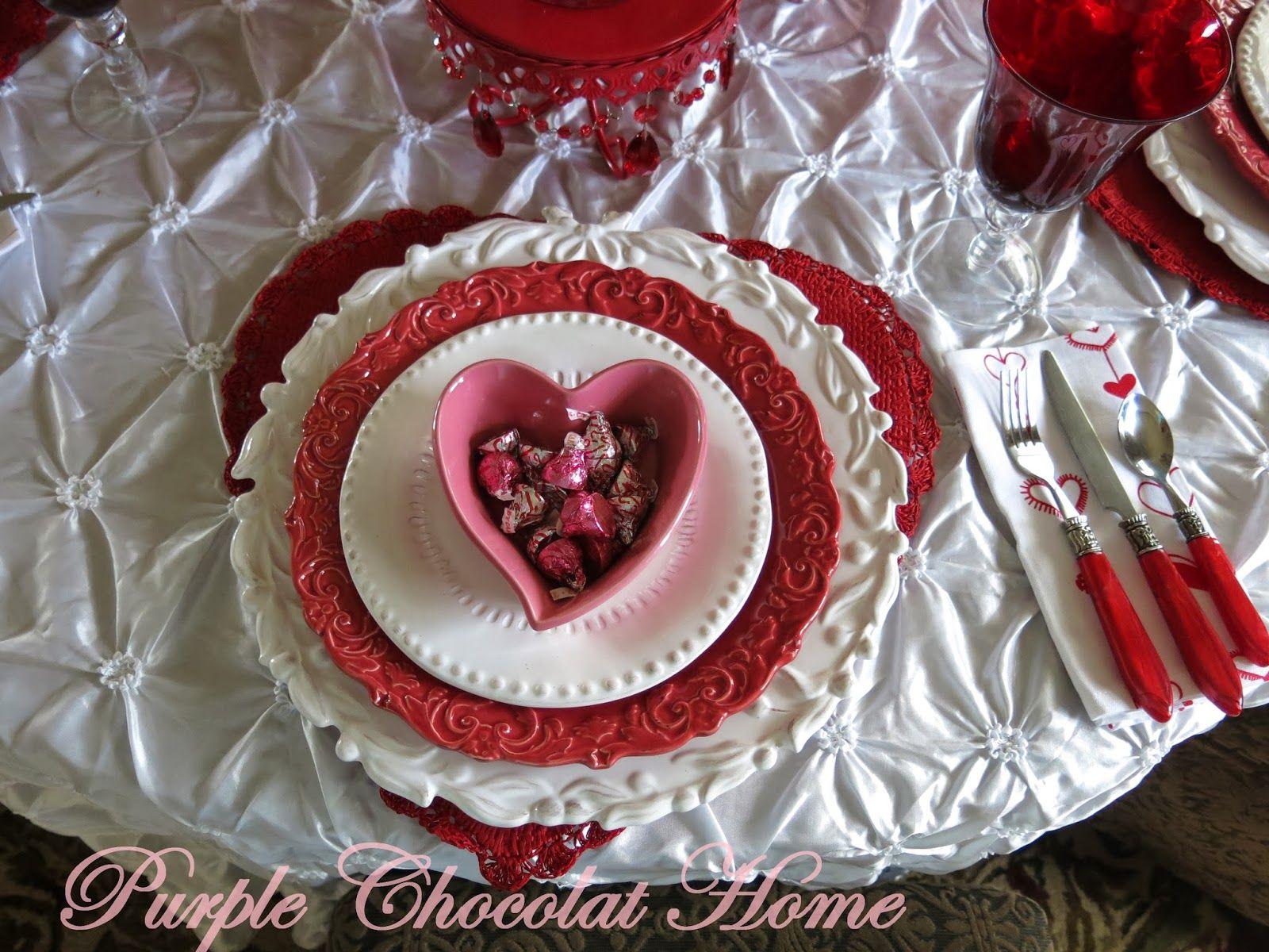 Purple chocolat home valentineus hugs and kisses table valentines