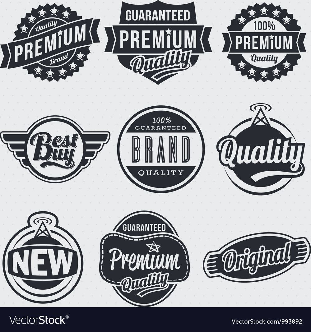 Retro vintage labels vector image on VectorStock Vintage