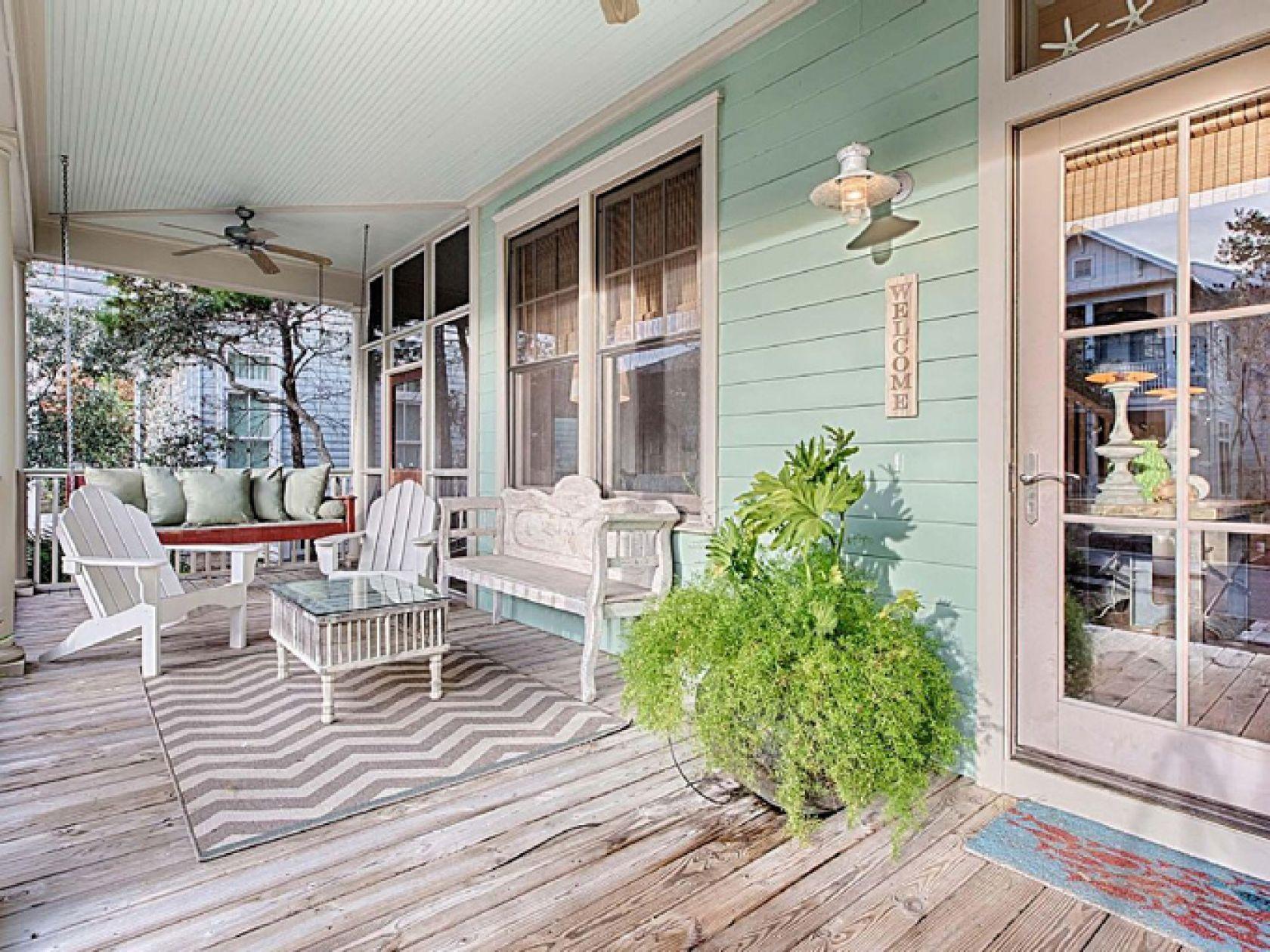 Water Color, Florida Mint Julep Beach Cottage Front Porch